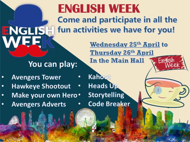 English Week Poster